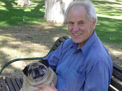 Dad and pug March 2004